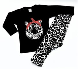 Setje Tiger bandana zwart