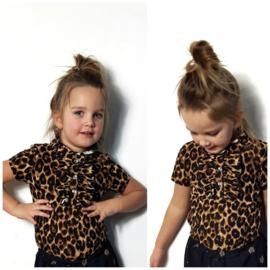 Ruffle Leopard shirt