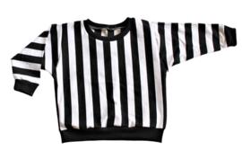 Oversized shirt Black White gestreept