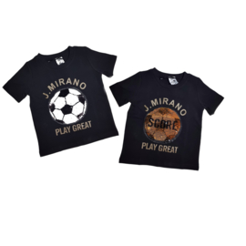 "Voetbal shirt ""Zero"" Black"