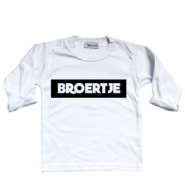"Shirt ""Broertje"" wit"