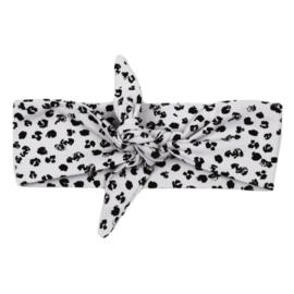 Haarband Leopard Grey