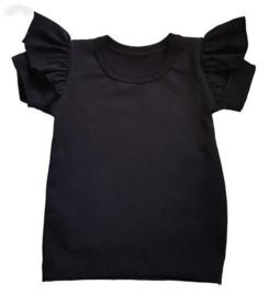 Ruffle shirt | Black
