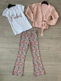 3-delige set Little Flowers Pink