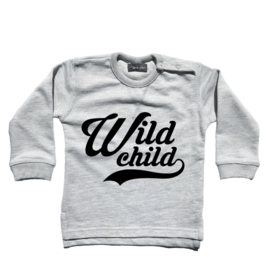 "Sweater ""Wild Child"" grijs"