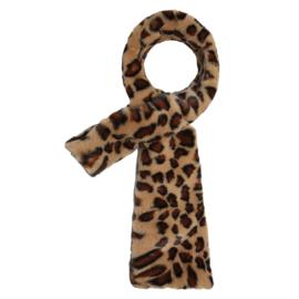 Sjaal Leopard Fluffy Bruin