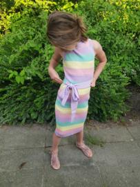 Rainbow dress Big stripes