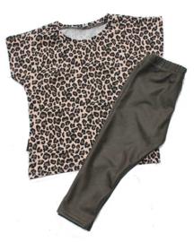 Setje oversized top + leatherlook legging AD