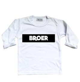 """Shirt """"Broer"""" wit"""