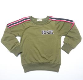 """Sweater """"Rock"""" girl green"""