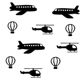 """Muursticker uitbreiding """"Luchtverkeersset"""""""