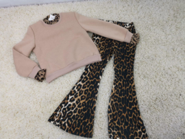 Sweater Beige Leopard