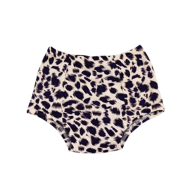 Baby Highwaist zwembroekje | Leopard Bluish Purple | Handmade