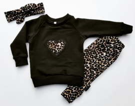 Setje Leopard brown-3 delig