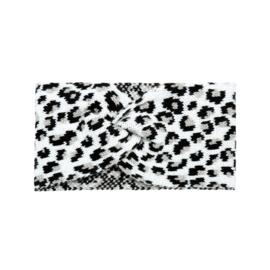 Hoofdband Leopard White