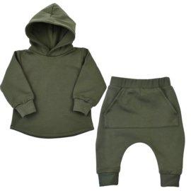 Hoodie pak | Khaki green