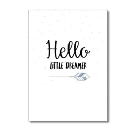 "Kaart ""Hello little dreamer"""