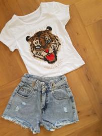 Shirtje Tiger White