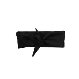 Haarband leatherlook zwart