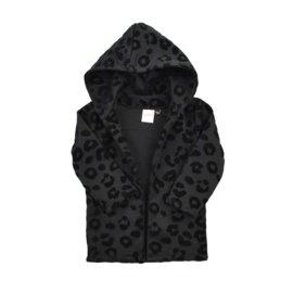 Hoodie vest Leopard zwart