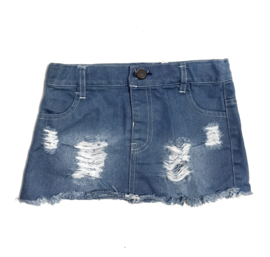Rokje denim distressed
