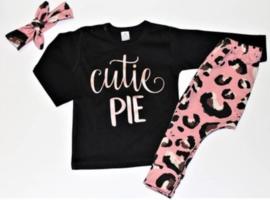 Setje Leopard Pink Cutie Pie - handmade -