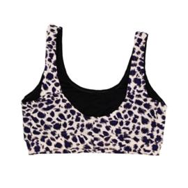 Dames bikini top Leopard | Handmade