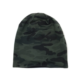 """Beanie Slouchy """"Army Reversible"""""""