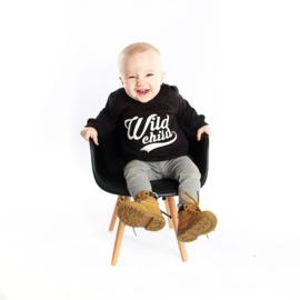 """Sweater """"Wild Child"""" zwart"""
