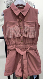 Playsuit Fringles Old Pink