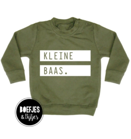 Sweater Kleine Baas groen
