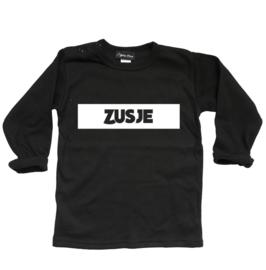 """Shirt """"Zusje"""" zwart"""
