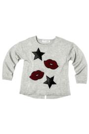 Sweater Lips&Stars grey