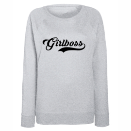 "Sweater ""Girlboss"" grijs"