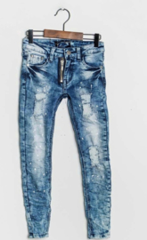 Splattered Jeans Blue