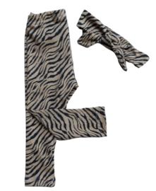 Legging Zebra skin beige