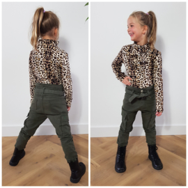 Longsleeve Ruffle leopard