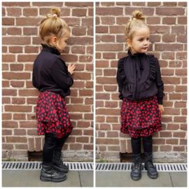 Meisjesblouse Ruffle bow black