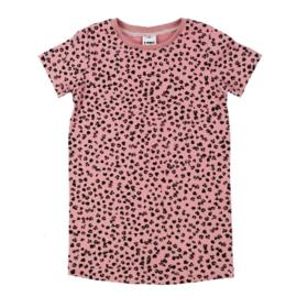 Tshirt Dress| Leopard Grey (dames en kids)