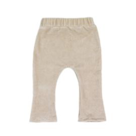 Flair broekje baby/meisje | Mini rib | Sand