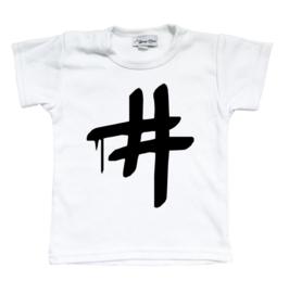Shirt #  (zwart of wit)
