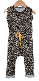 Jumpsuit Leopard geel