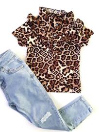 Ruffle Leopard Shirt 2.0