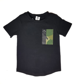 Shirt Black Camo green