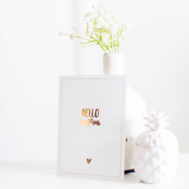 Kaart Hello Gorgeous White/Gold