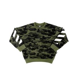 Stoere jongenssweater Ovy Camo Green