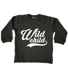 "Sweater ""Wild Child"" zwart"
