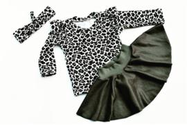 """Setje """"Leopard Khaki"""" 3-delig"""