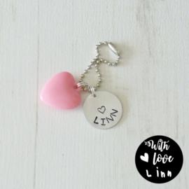 Sleutelhanger heart (met naam)