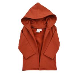 Hoodie Vest | Fired Brick